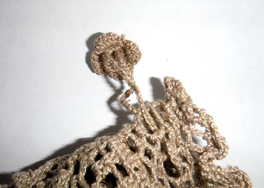 Other NEW Handcrafted Crochet and Pearl Drawstring Jewelry Bag / Pouch