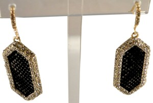 ABS by Allen Schwartz New ABS by Allen Schwartz Gold-Tone Crystal Black Snake Print Drop Earrings