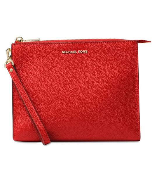 Item - Bright Red Mercer Box Medium Travel Pouch Wristlet Cosmetic Bag