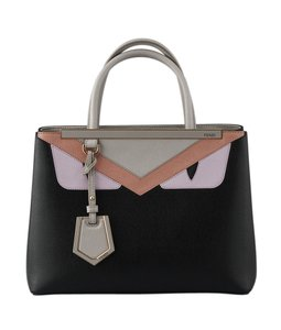 Fendi Leather Satchel in BlackxPink