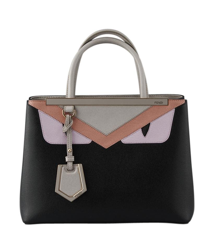 231783e5e9fe Fendi Petite 2jours Monster Black   Pink (126678) Blackxpink Leather ...