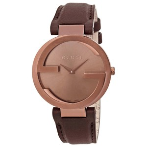 Gucci Gucci Interlocking G Brown Dial Brown PVD Authentic Swiss Ladies Watch