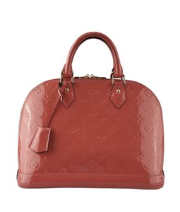 Louis Vuitton Xpatent Leather Satchel in Pink