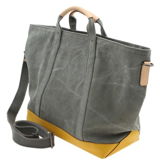 Item - Tote In 70688 Dark Olive Washed Canvas Beach Bag