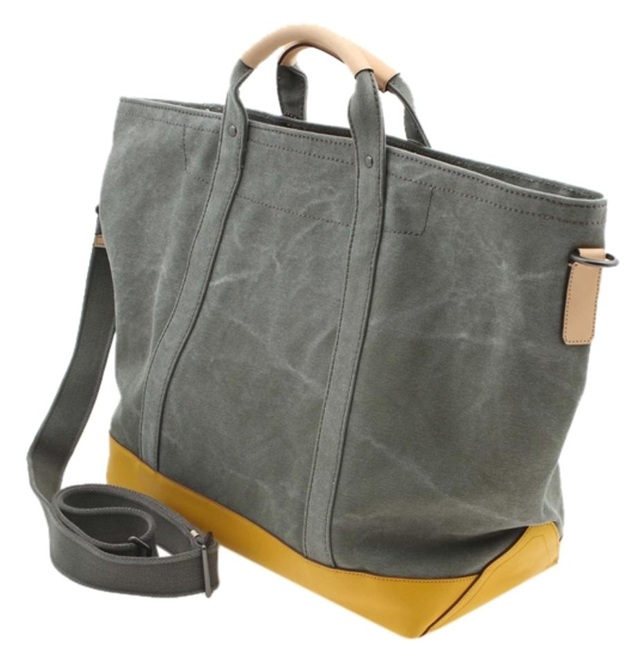 Coach Tote In 70688 Dark Olive Washed Canvas Beach Bag 42 Off Retail