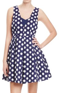 Gracia short dress navy /white on Tradesy