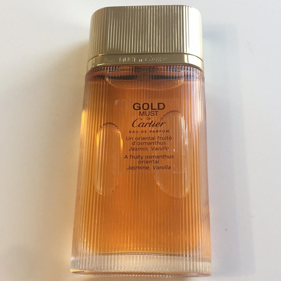 Cartier Gold Must De By Parfum Woman Edp 33 Oz 100 Ml No Box