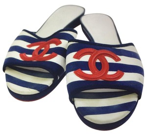 Chanel red/blue/white Sandals