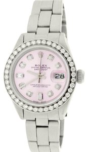 Rolex Rolex Datejust Ladies 26mm Steel Oyster w/Pink Diamond Dial & Bezel