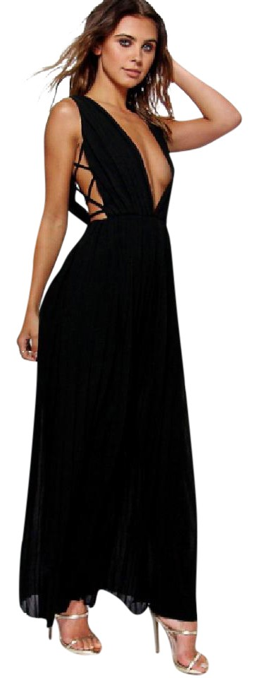 e542760708ca Black Petite Mel All Over Pleated Strappy Us Long Casual Maxi Dress ...