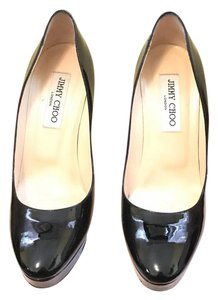 Jimmy Choo Patent Leather Closed Toe Black Pumps