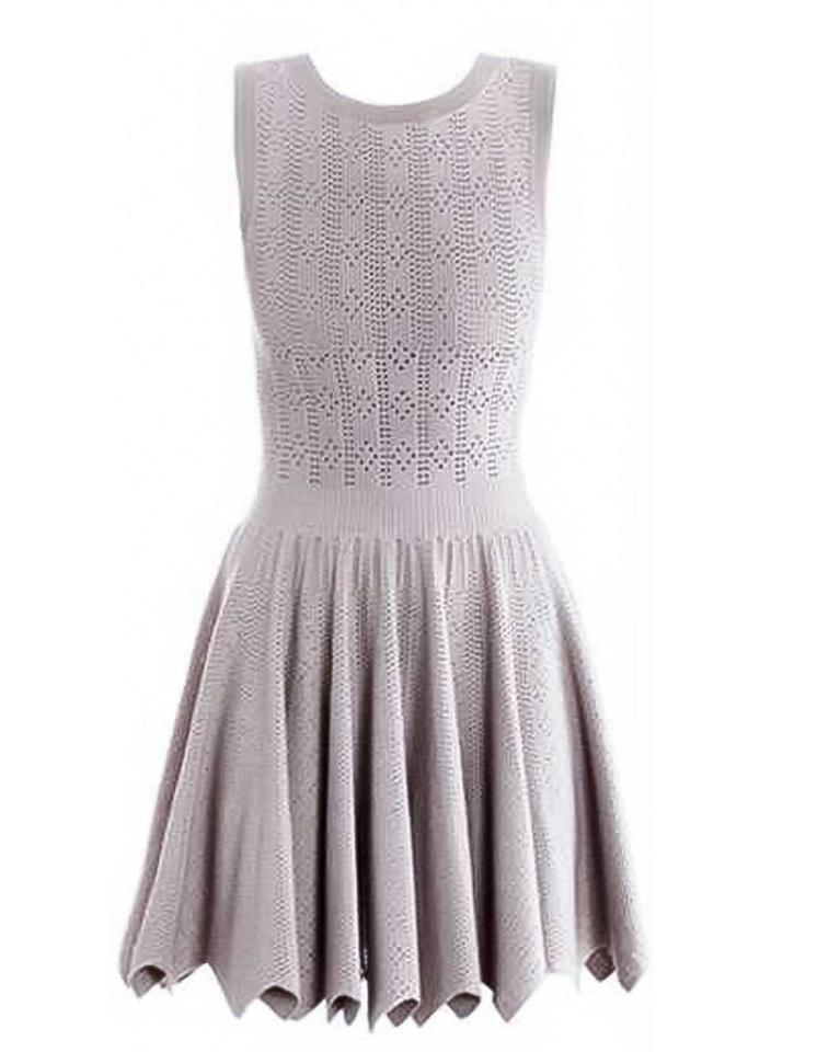 6220998120a ALAÏA Mauve Eyelet Fit and Flare Fr42 Cocktail Dress Size 10 (M ...