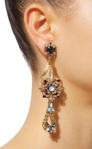 Erickson Beamon Wild Flower Crystal Drop Earrings