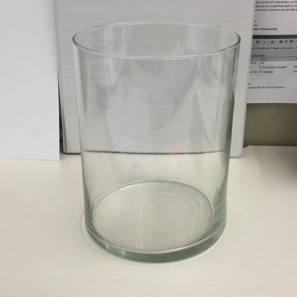 Crate Barrel Large Glass Hurricane Vase Candle Holder Tradesy