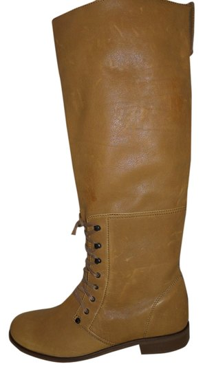 J.Crew Leather Riding J. Crew tan Boots