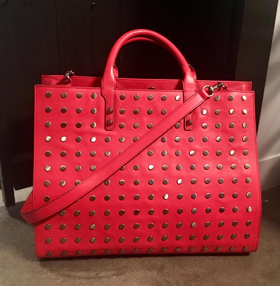 Grayson Tags Minkoff Rebecca Tote Red With Leather tqEddwHC