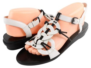 Modern Vintage White Casual Comfortable Ivory Black Sandals