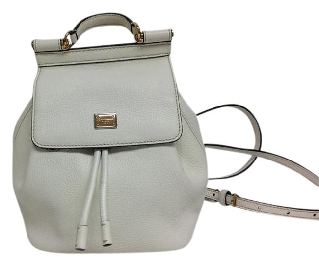 Item - Micro Sicily Cream Leather Backpack