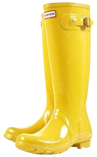 Item - Yellow Rain Boots/Booties Size US 8 Regular (M, B)