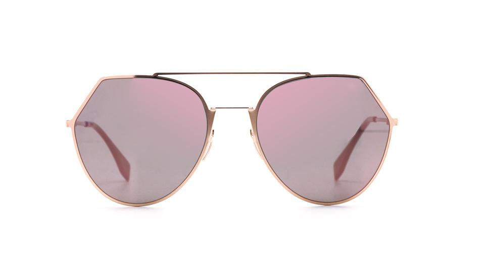 04ee3f129d7b Fendi Eyeline Rose Gold Pink Mirrored Sunglasses FF 0194 S DDBAP Image 0 ...