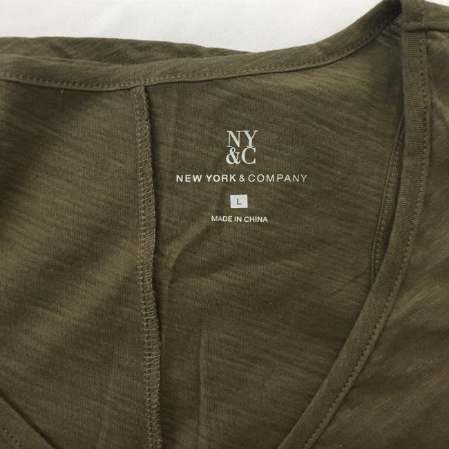 New York & Company Top olive green Image 3