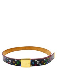 Louis Vuitton Louis Vuitton Black Murakami Canvas Multi Color Sz 36 Belt