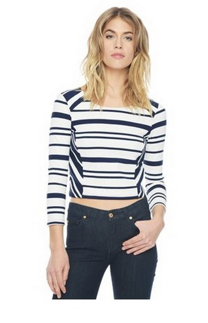 Ella Moss Bonnie Natural/Navy Sweater Ella Moss Bonnie Natural/Navy Sweater Image 1