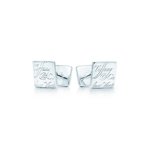Tiffany & Co. Stearling Silver .925 Notes Cufflinks/Studs