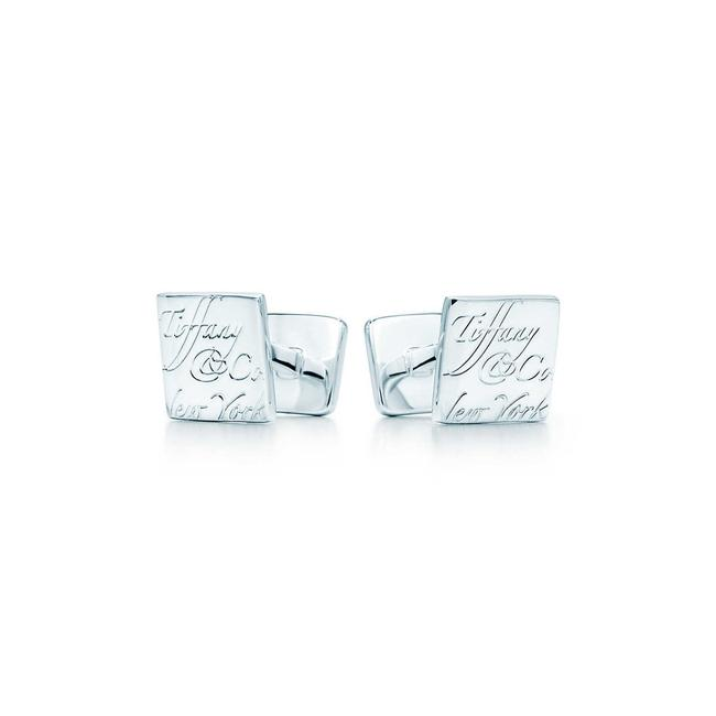 Item - Stearling Silver .925 Notes Cufflinks/Studs
