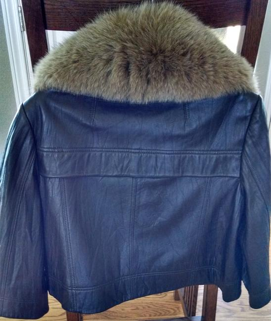 Peter Nygard Chocolate Brown w/ Detachable Red Fox Leather Jacket