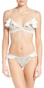 For Love & Lemons St. Tropez Ruffle Lace Triangle Bottom