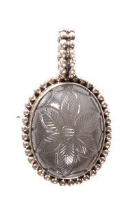 Stephen Dweck Silver And Mother Of Pearl Carved Pendant