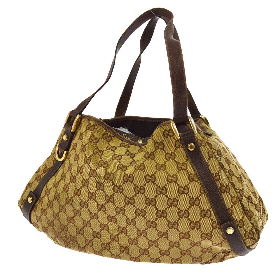 5a9f809b9a72 Gucci Satchel/Tote Style Excellent Vintage Great Everyday Abbey D Ring Line  Gold Horsebit Accent ...
