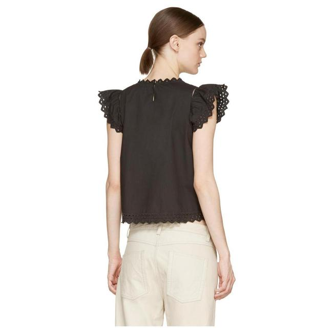 toile Isabel Marant Silo Eyelet Top Navy
