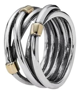 PANDORA Silver Rope Bands Ring