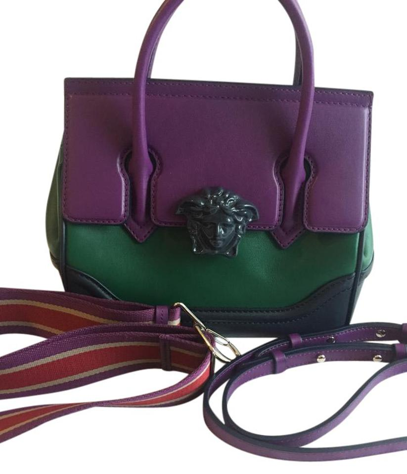 15147ded0a61 Versace *limited Edition* Palazzo Empire Purple Leather Shoulder Bag ...