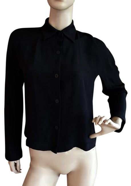 Peter Cohen Black Silk Blouse Size 4 (S) Peter Cohen Black Silk Blouse Size 4 (S) Image 1