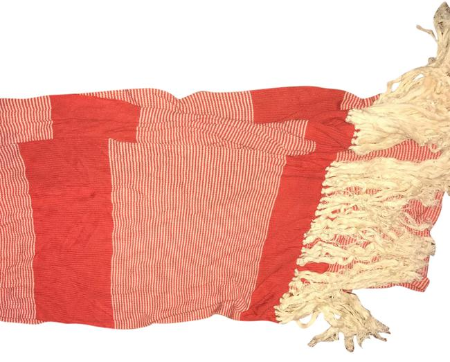 Item - Red and Off White Summer Scarf/Wrap