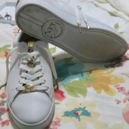 Michael Kors White with Gold Athletic Image 1