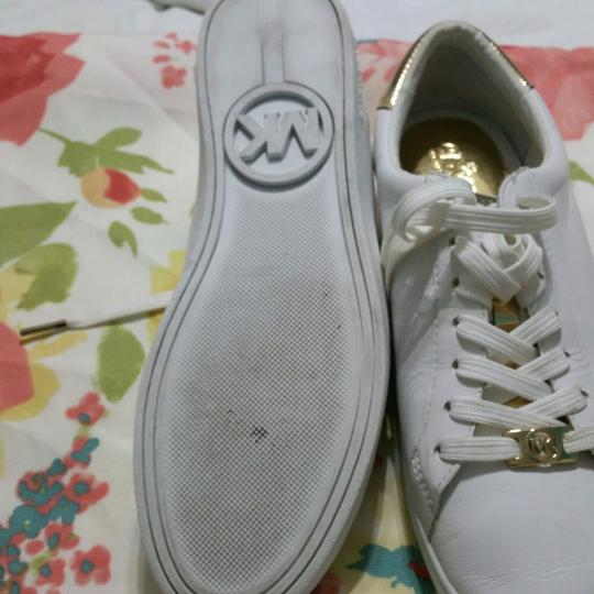Michael Kors White with Gold Athletic Image 4