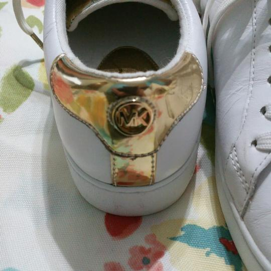 Michael Kors White with Gold Athletic Image 5