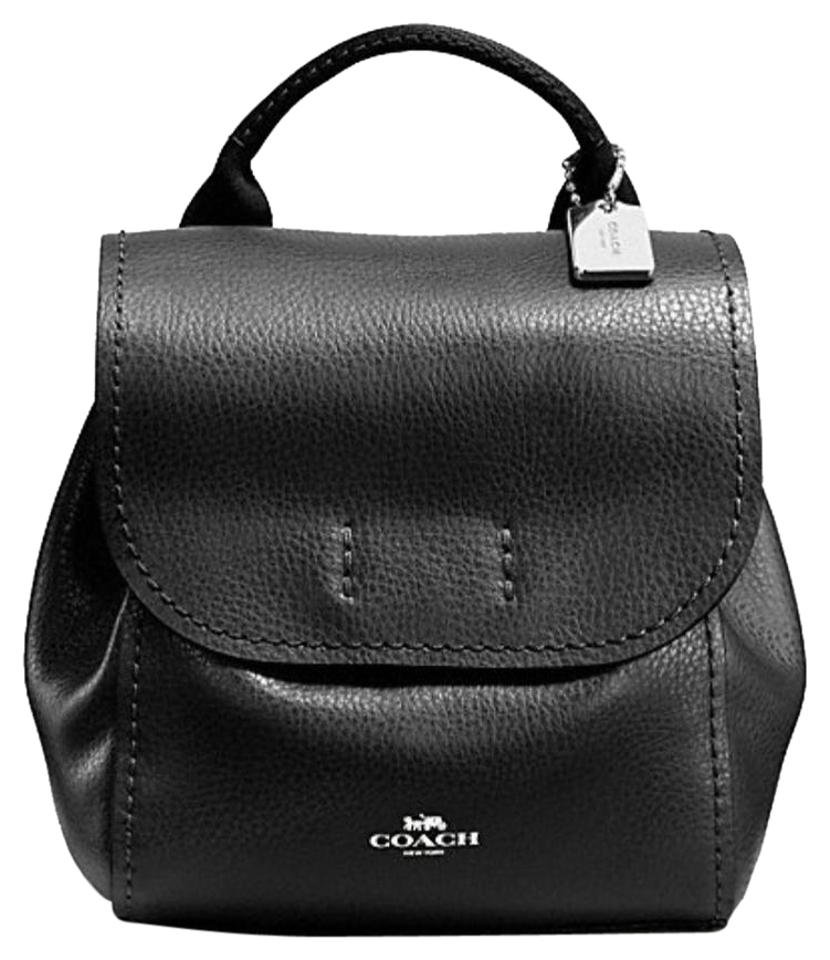Coach Black Leather Derby Backpack - Tradesy