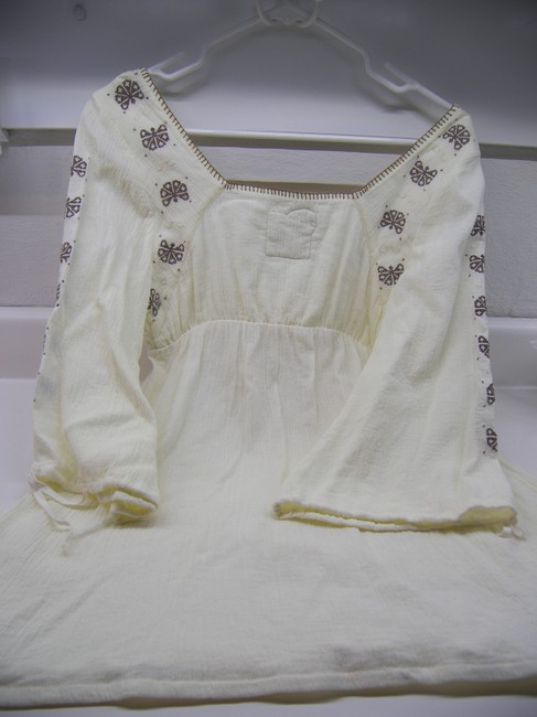 Free People Ivory Summertime Hooked On Love Peasant Blouse Size 8 (M) 74%  off retail