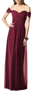 Dessy Burgundy Collection Formal Bridesmaid/Mob Dress Size 6 (S)