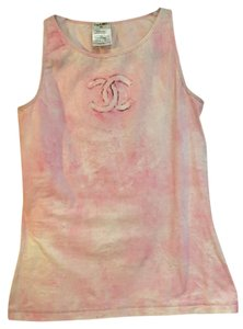 Chanel 2009 Cruise Cruise Collection Shirt Cc Top Pink / Beige