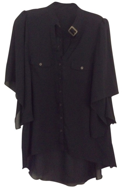 Preload https://img-static.tradesy.com/item/2152132/black-sheer-blouse-button-down-top-size-6-s-0-0-650-650.jpg