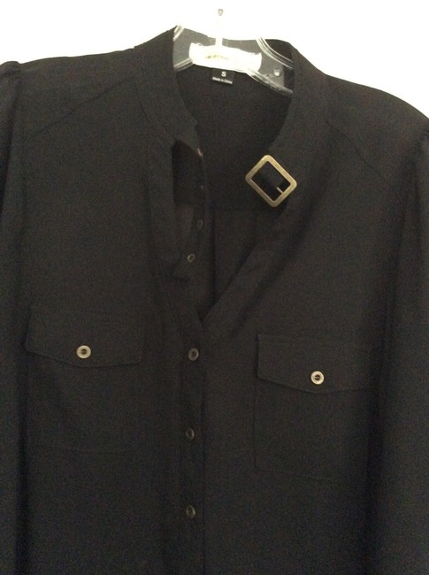 Other Button Down Shirt Black Image 1
