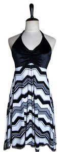 Lisa Nieves short dress black.white Summer Spring Lycra on Tradesy