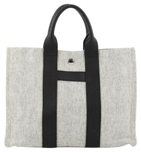 Hermes Toile Leather Tote