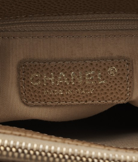 Chanel Leather Tote in Tan Image 9